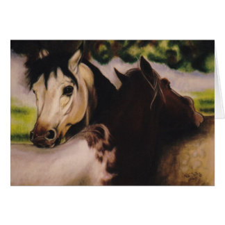 """Skyball and Dandy"" equine card"