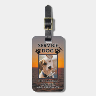 Skybird Service Dog Photo ID Travel Bag Tag