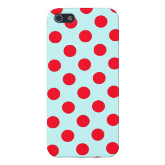 Skyblue background Red  Polka Dots case iPhone 5 Case