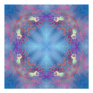 Skyblue Diamond Print