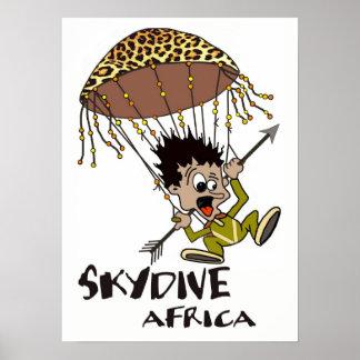 Skydive Africa Framed Print