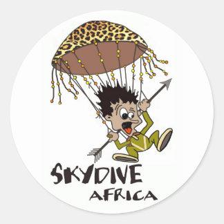 Skydive África Etiquetas Redondas
