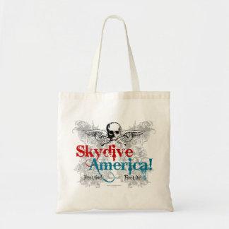 ¡Skydive América! Bolsa Tela Barata