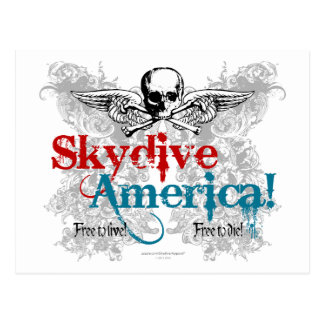 ¡Skydive América! Postal