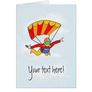 ¡Skydive - añada su propio texto! Tarjeta De Felicitación