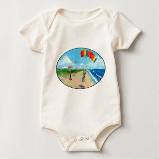 Skydive Beach Landing Baby Bodysuit