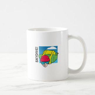 SKYDIVE CLASSIC WHITE COFFEE MUG