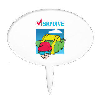 SKYDIVE DONE THAT CAKE TOPPER