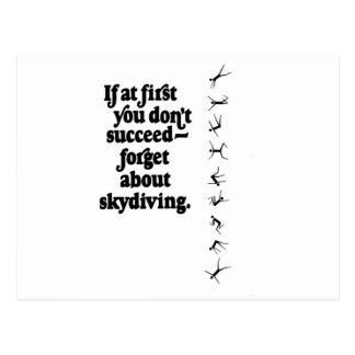 Skydive Fail Postcard