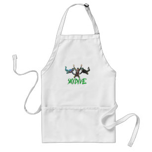 Skydive - Green Text Adult Apron