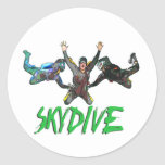 Skydive - Green Text Sticker