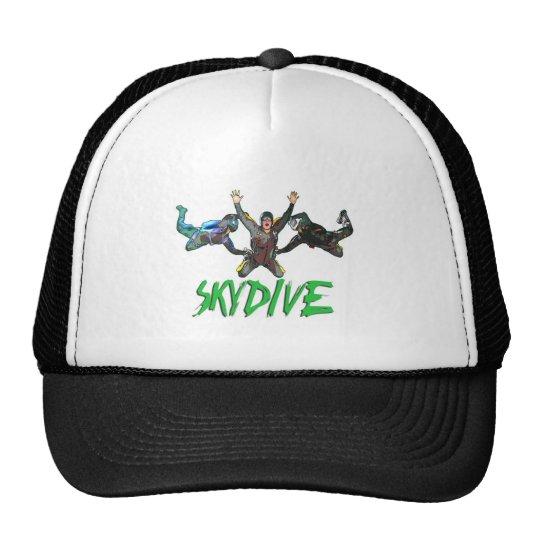 Skydive - Green Text Trucker Hat