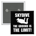 Skydive Ground Limit 2 Inch Square Button
