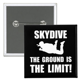 Skydive Ground Limit Pinback Button