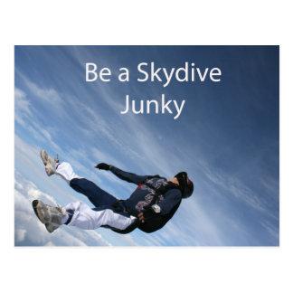 Skydive junky postcard