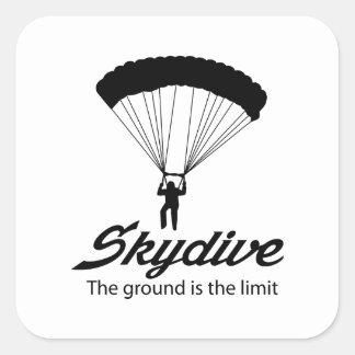 Skydive la tierra es el límite calcomania cuadradas