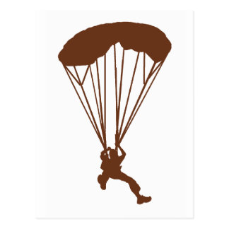 SKYDIVE OVER CANYONS POSTCARD