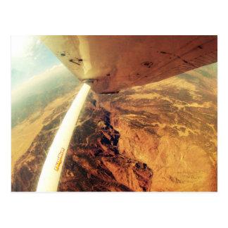skydive plano perfecto de la foto pequeño postal