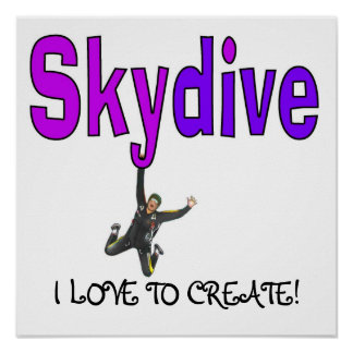 Skydive Purple Poster