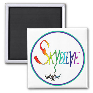 Skydive Rainbow Circle Magnet