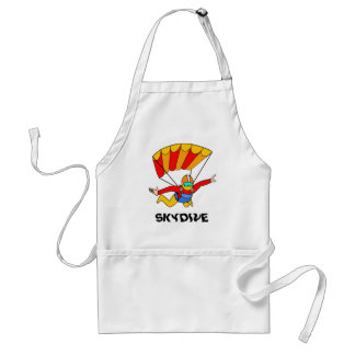 Skydive Red Yello Parachute Adult Apron