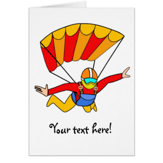 Skydive Red Yello Parachute Card