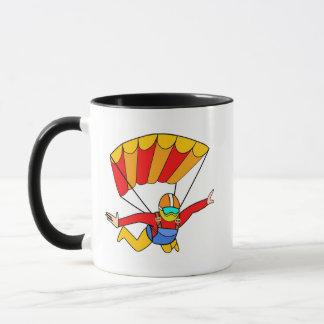 Skydive Red Yello Parachute Mug