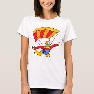Skydive Red Yello Parachute T-Shirt