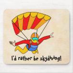 ¡Skydive - skydiving bastante! Tapetes De Raton