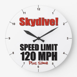Skydive! Speed Limit 120MPH, Plus some Large Clock