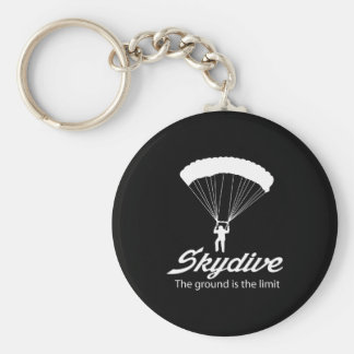 Skydive the Ground Is The Limit Keychain