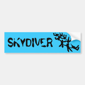 SKYDIVER CAR BUMPER STICKER