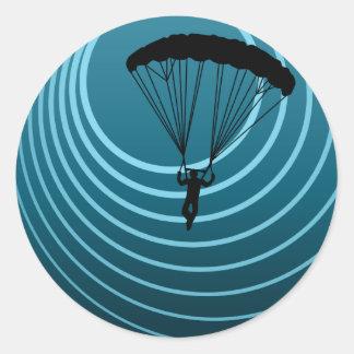 skydiver del alcohol ilegal etiquetas redondas