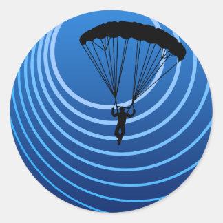 skydiver del alcohol ilegal pegatina redonda