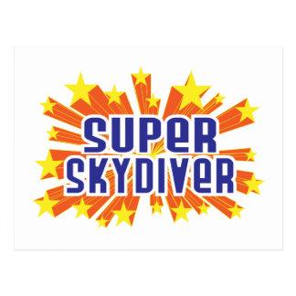 Skydiver estupendo postal