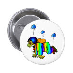 Skydiver falling with closed parachute - oh pinback button