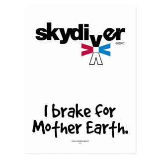 SKYDIVER - freno de I para la tierra de madre Postal