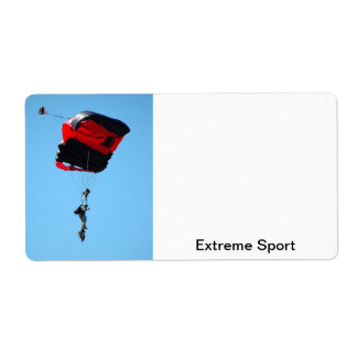 skydiver shipping label