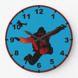 Skydiver Large Clock