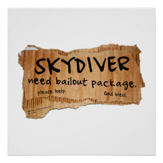 SKYDIVER Need Bailout Package Posters