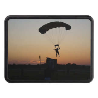 Skydiver Parachute at Sunset Hitch Cover
