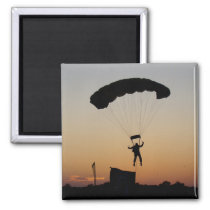 Skydiver Parachute at Sunset Magnet