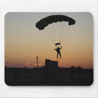 Skydiver Parachute at Sunset Mouse Pad