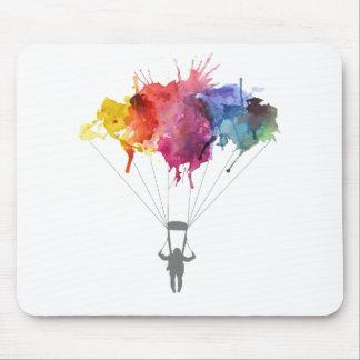 Skydiver, Parachute. Skydiving Sport. Parachuting Mouse Pad