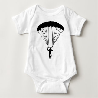 skydiver silhouette baby bodysuit