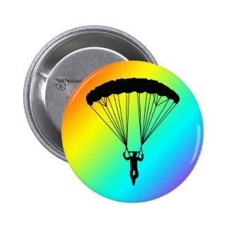 skydiver silhouette 2 inch round button