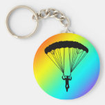 skydiver silhouette keychain