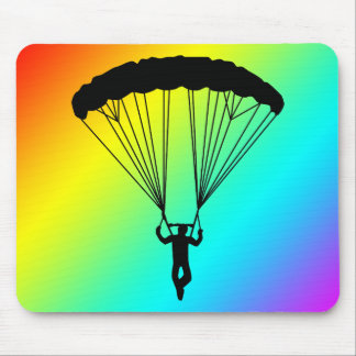 skydiver silhouette mouse pad