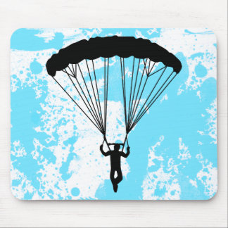 skydiver silhouette mousepads