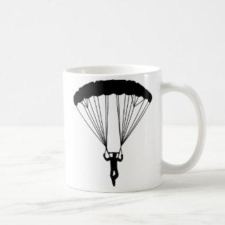 skydiver silhouette classic white coffee mug
